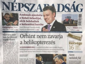 Final issue of Népszabadság (photo: mandiner.hu).