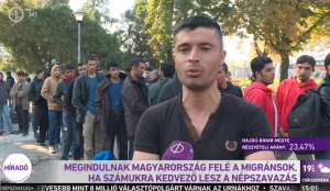 (1) MIGRANTS WILL DEPART IN DIRECTION OF HUNGARY IF [OUTCOME OF] REFERENDUM IS FAVORABLE FOR THEM.