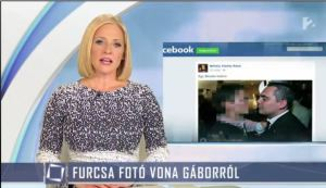 "TV2 report ""Strange Photo of Gábor Vona."""
