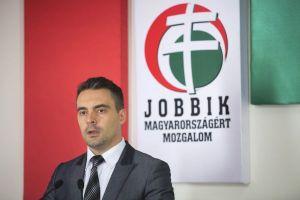 """Jobbik President Gábor Vona: """"I am a proud heterosexual"""" (photo: Magyar Narancs)."""