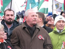 Peace March main organizer journalist András Bencsik.