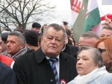Peace March main organizer businessman Gábor Széles.