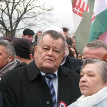 Peace March main organizer businessman Gábor Széles.