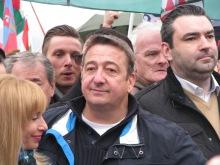 Peace March main organizer journalist Zsolt Báyer.